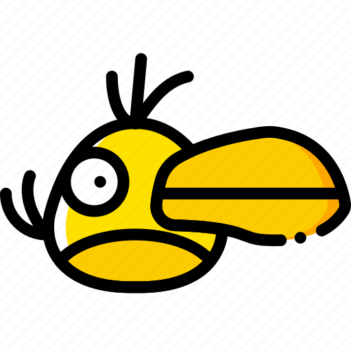 angry, birds, game, hal, yellow icon