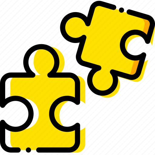 build, game, pieces, puzzle, yellow icon