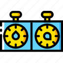 blitz, game, time, watch, yellow icon
