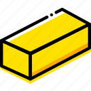 brick, game, gold, minecraft, yellow icon