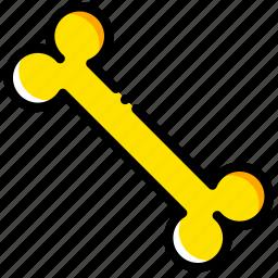 bone, game, gold, minecraft, yellow icon