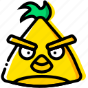 angry, birds, chuck, game, yellow icon