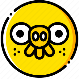 angry, birds, game, pig, yellow icon