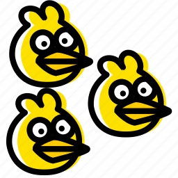 angry, birds, blues, game, the, yellow icon