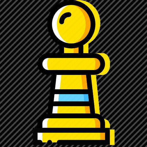 chess, game, pawn, table, yellow icon