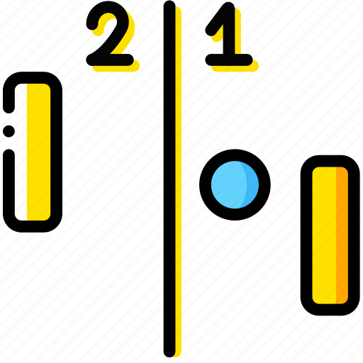 arcade, game, pong, two, yellow icon