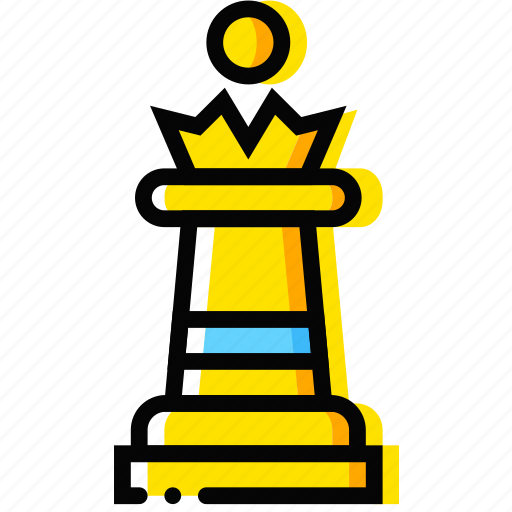 chess, game, queen, table, yellow icon