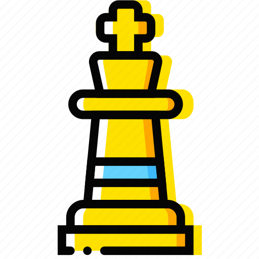 chess, game, king, table, yellow icon