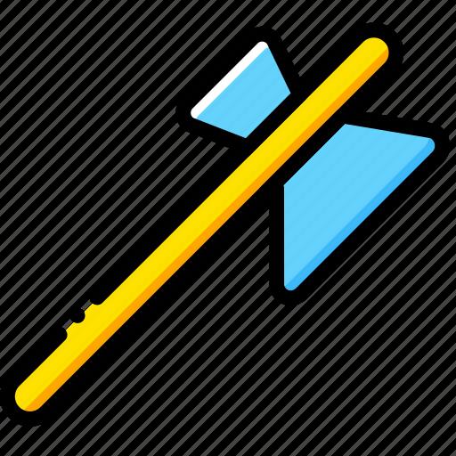 axe, diamond, game, minecraft, yellow icon