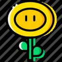 mario, game, fireflower, arcade, yellow