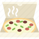 box, food, cooking, gastronomy, pizza icon