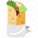 food, gastronomy, shawarma, cooking icon