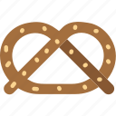 cooking, food, gastronomy, pretzel icon