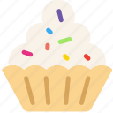 cooking, cupcake, food, frosted, gastronomy icon