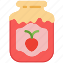 cooking, food, gastronomy, jam, strawberry icon