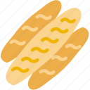 bread, cooking, food, gastronomy, loaves icon