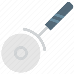 cooking, food, gastronomy, knife, pizza icon