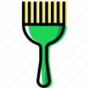 beauty, brush, grooming, hair, hygiene, saloon icon