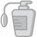 beauty, bottle, grooming, hair, hygiene, perfume, saloon icon