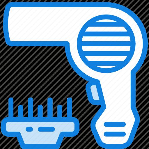 beauty, dryer, grooming, hair, hygiene, saloon icon