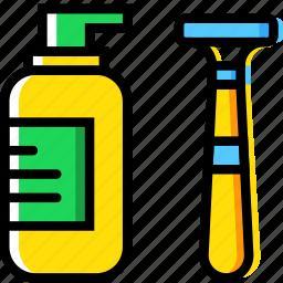 beauty, grooming, hair, hygiene, razor, saloon, shaving icon