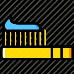 beauty, grooming, hair, hygiene, saloon, style, toothbrush icon