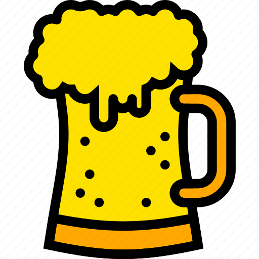 beer, holiday, pint, season, yellow icon