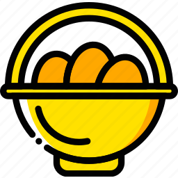 basket, easter, holiday, season, yellow icon