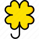 clover, holiday, plant, season, yellow icon
