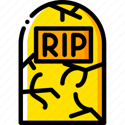 grave, holiday, season, stone, yellow icon