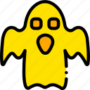 ghost, holiday, scary, season, yellow icon