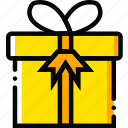 christmas, gift, holiday, season, yellow icon