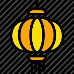chinese, holiday, lamp, season, yellow icon