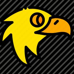 american, eagle, holiday, season, yellow icon