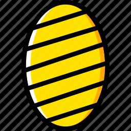 easter, egg, holiday, season, yellow icon