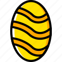 easter, egg, holiday, season, yellow icon
