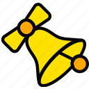 bell, christmas, holiday, season, yellow icon