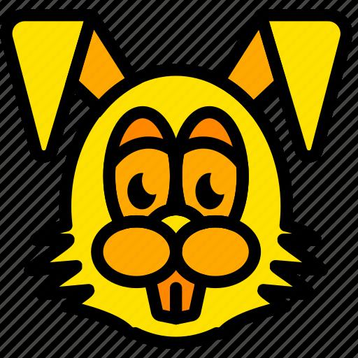 bunny, easter, holiday, season, yellow icon