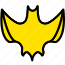 bat, halloween, holiday, season, yellow icon