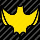 bat, halloween, holiday, season, yellow