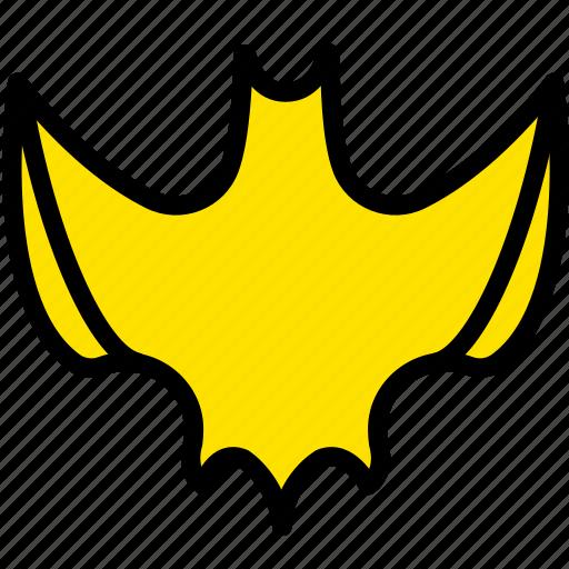 bat, halloween, holiday, season, yellow icon