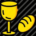 bread, holiday, season, wine, yellow