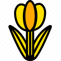 holiday, season, spring, tulip, yellow icon