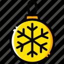 globe, holiday, season, winter, yellow