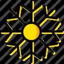 holiday, season, snowflake, winter, yellow