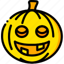 halloween, holiday, pumpkin, season, yellow icon