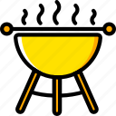 barbeque, food, holiday, season, yellow icon