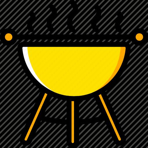 barbeque, food, holiday, season, yellow icon