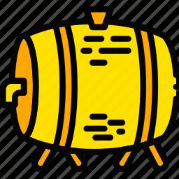 beer, holiday, keg, season, yellow icon