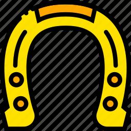 holiday, horseshoe, lucky, season, yellow icon